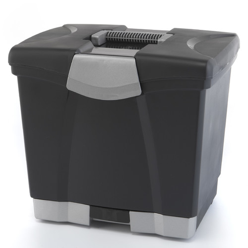 STOREX Portable File Box with Drawer
