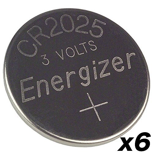 Cr2025 Battery 6 Pcs Energizer 3v Lithium Coin Cell