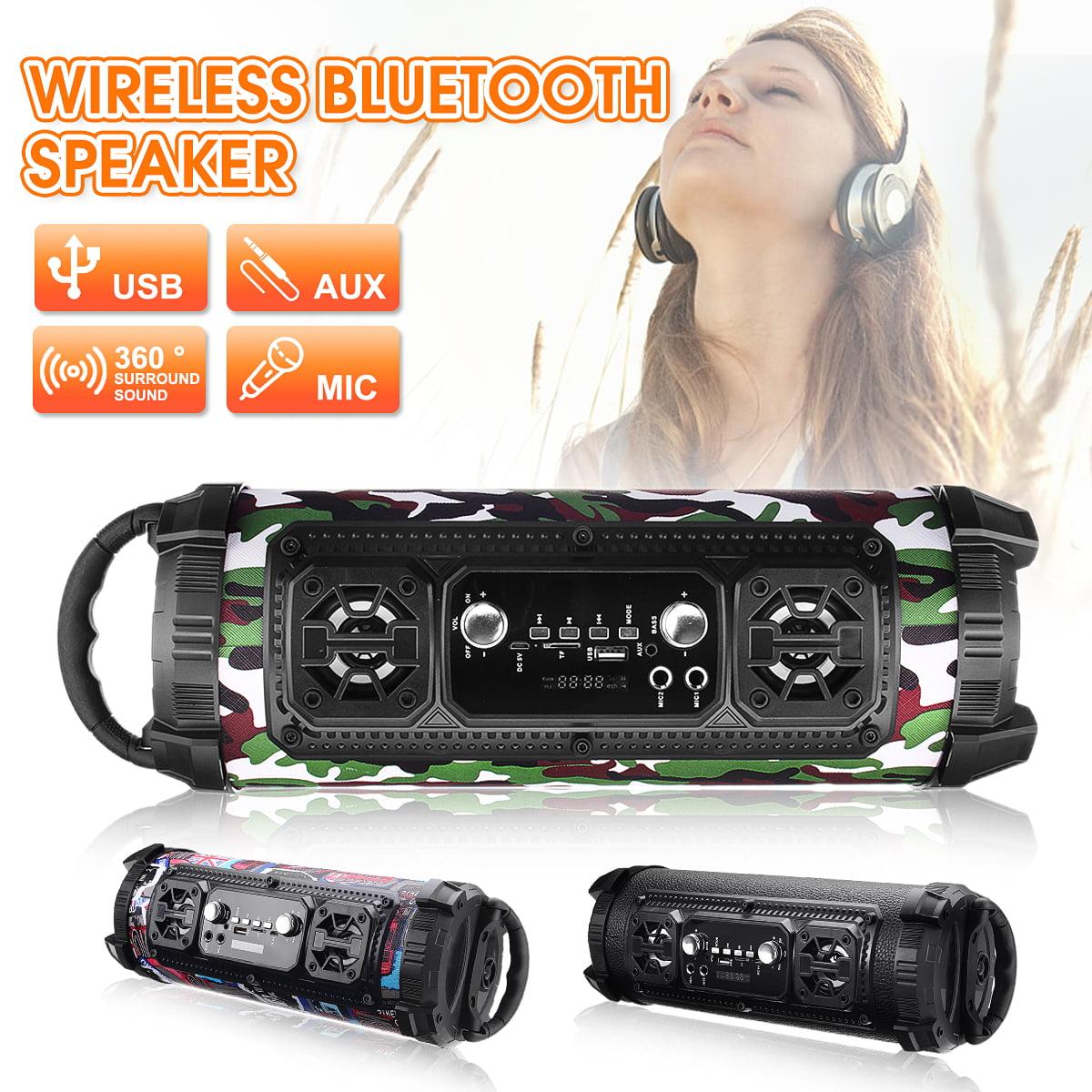 Portable Bluetooth Speaker Wireless Stereo Loud Super Bass Sound TF LED Light
