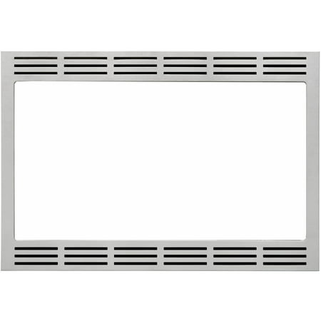 Panasonic 27 In. Wide Trim Kit for Panasonic's 2.2 Cu. Ft. Microwave Ovens - Stainless (Ge Jx2127sh Microwave Trim Kit Stainless Steel)