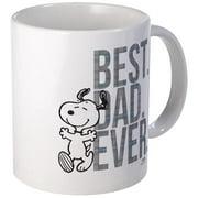CafePress Snoopy Best Dad Ever Mug Unique Coffee Mug, Coffee Cup CafePress by