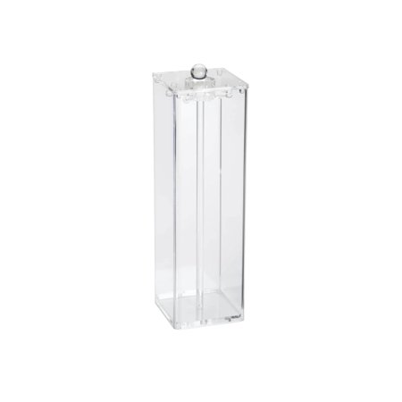 "Miles Kimball Clear Acrylic Jewelry Necklace Stand Holder and Display Organizer, 4"" Square x 13"" High"