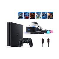 PlayStation VR Start Bundle 10 Items:VR Start Bundle,PS4,6 VR Game Disc PSVR Until Dawn: Rush of Blood,PSVR EVE: Valkyrie,PSVR Battlezone,Batman: Arkham VR, PSVR DriveClub,PSVR Battlezone