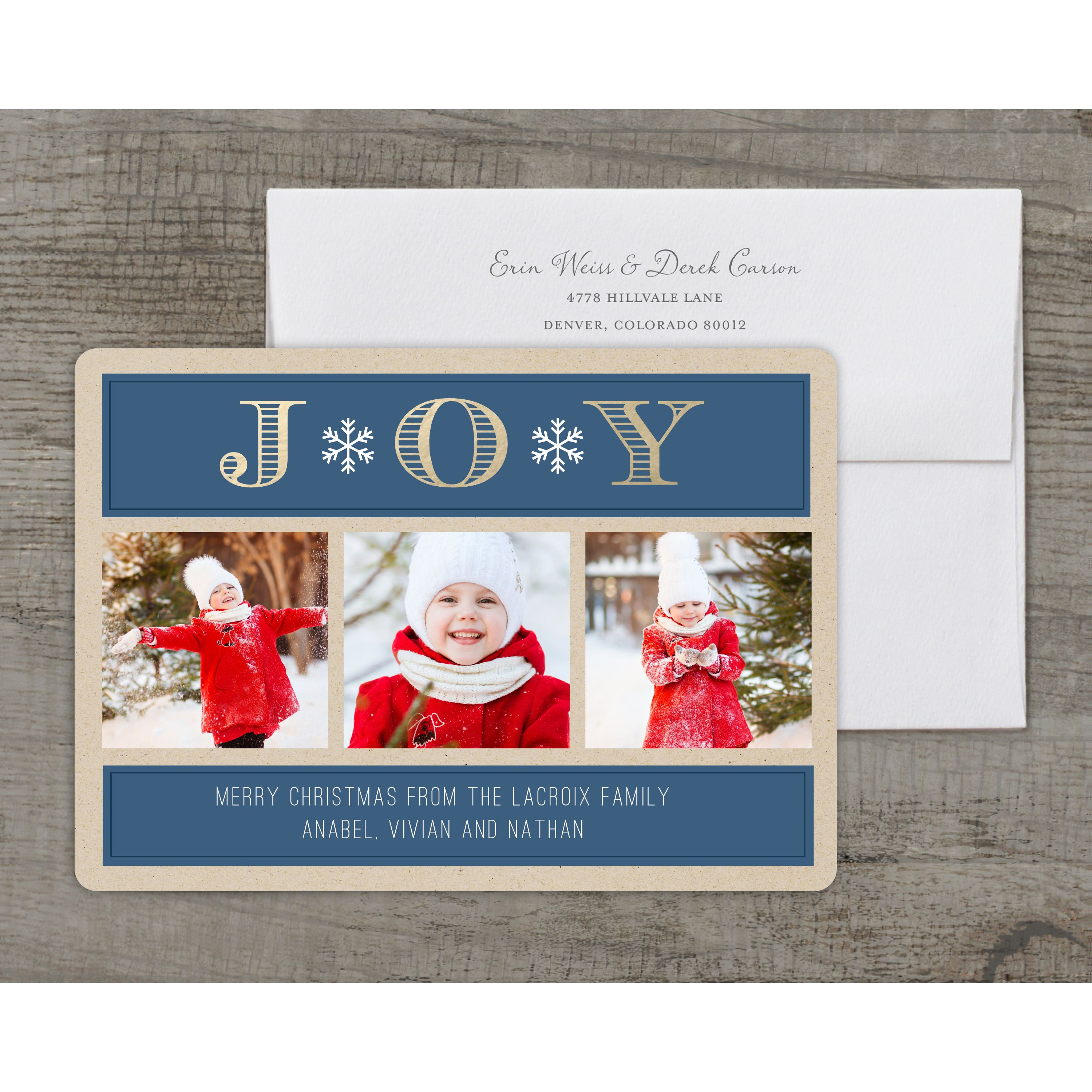 Deluxe 5x7 Personalized Holiday Christmas
