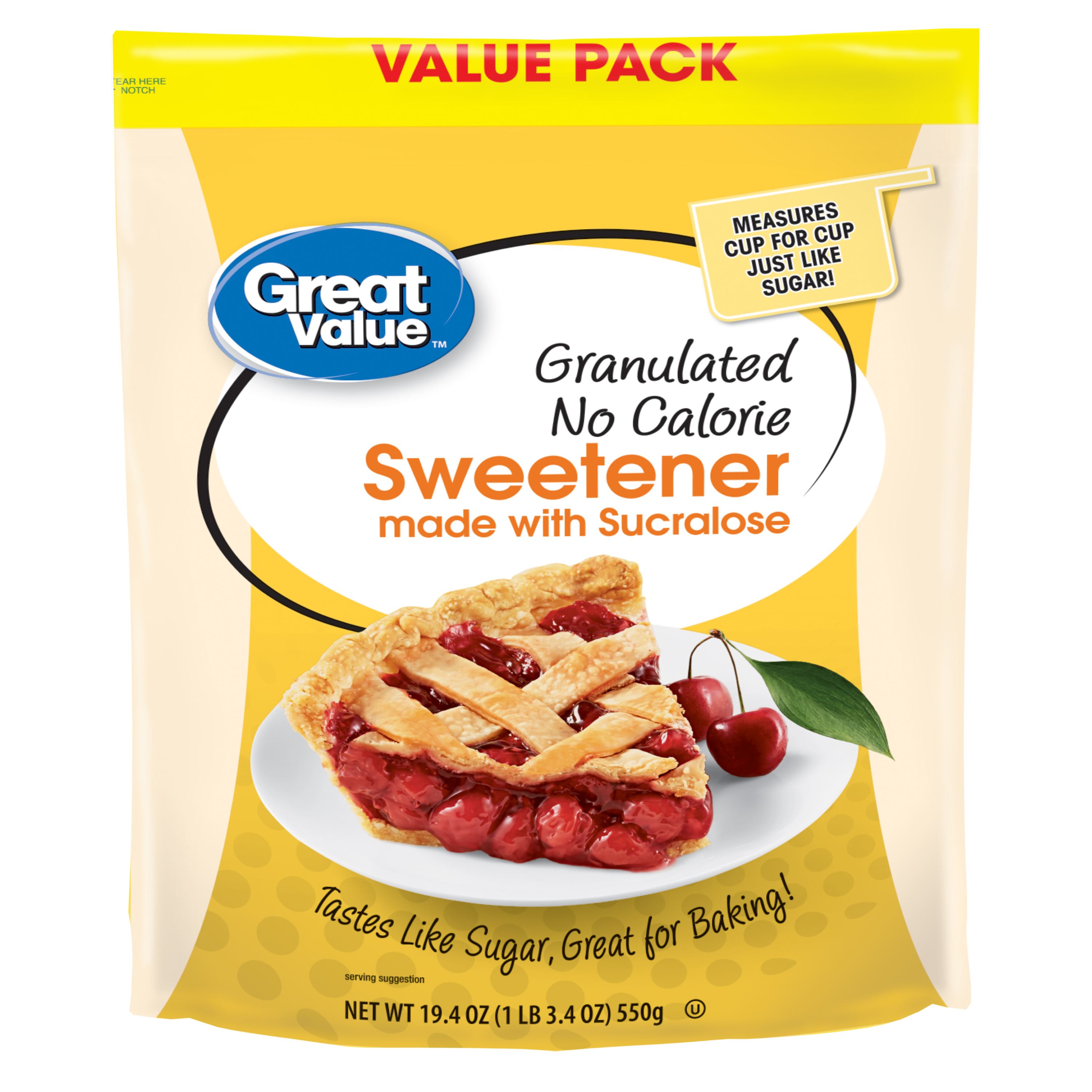 Great Value Sweetener with Sucralose, 19.4 Oz