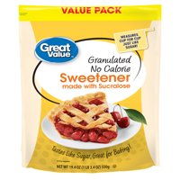 Great Value Granulated No Calorie Sweetener Value Pack, 19.4 oz