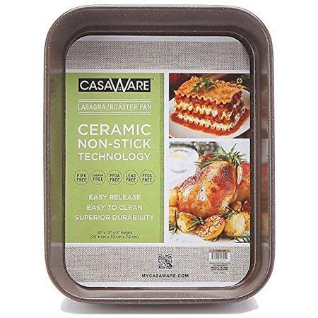 Casaware Ceramic Coated Nonstick Lasagna Roaster Pan 13 X