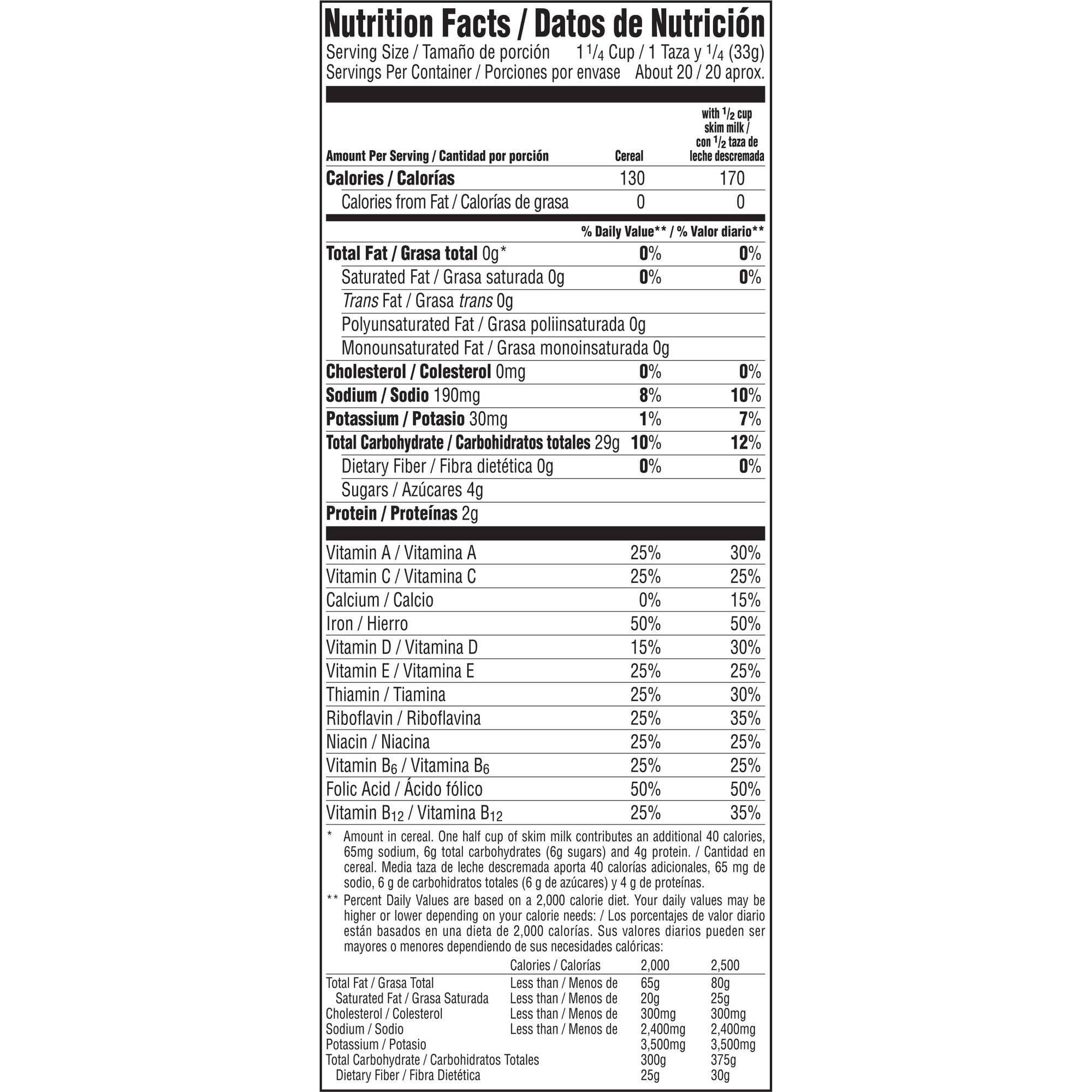 Rice Krispies Cereal Nutrition Info - Blog Dandk