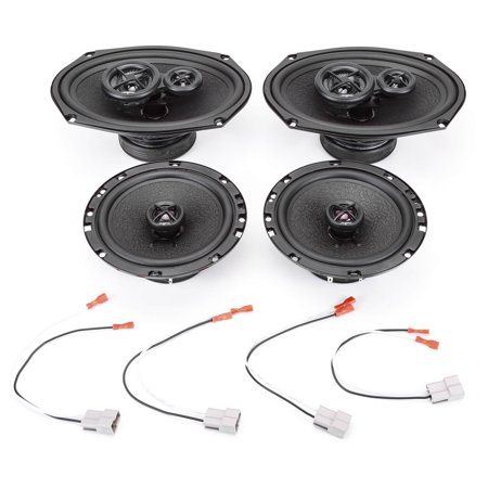 Mitsubishi Car Speakers - 2007-2013 Mitsubishi Galant w Auto Climate Controls Complete Premium Factory Replacement Speaker Package by Skar Audio