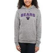 Central Arkansas Bears Women's Proud Mascot Pullover Hoodie - Ash -