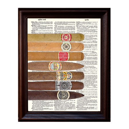 Seven Cigars - Dictionary Art Print Printed On Authentic Vintage Dictionary Book Page - 8 x 10.5 (Macanudo Vintage Cigars)
