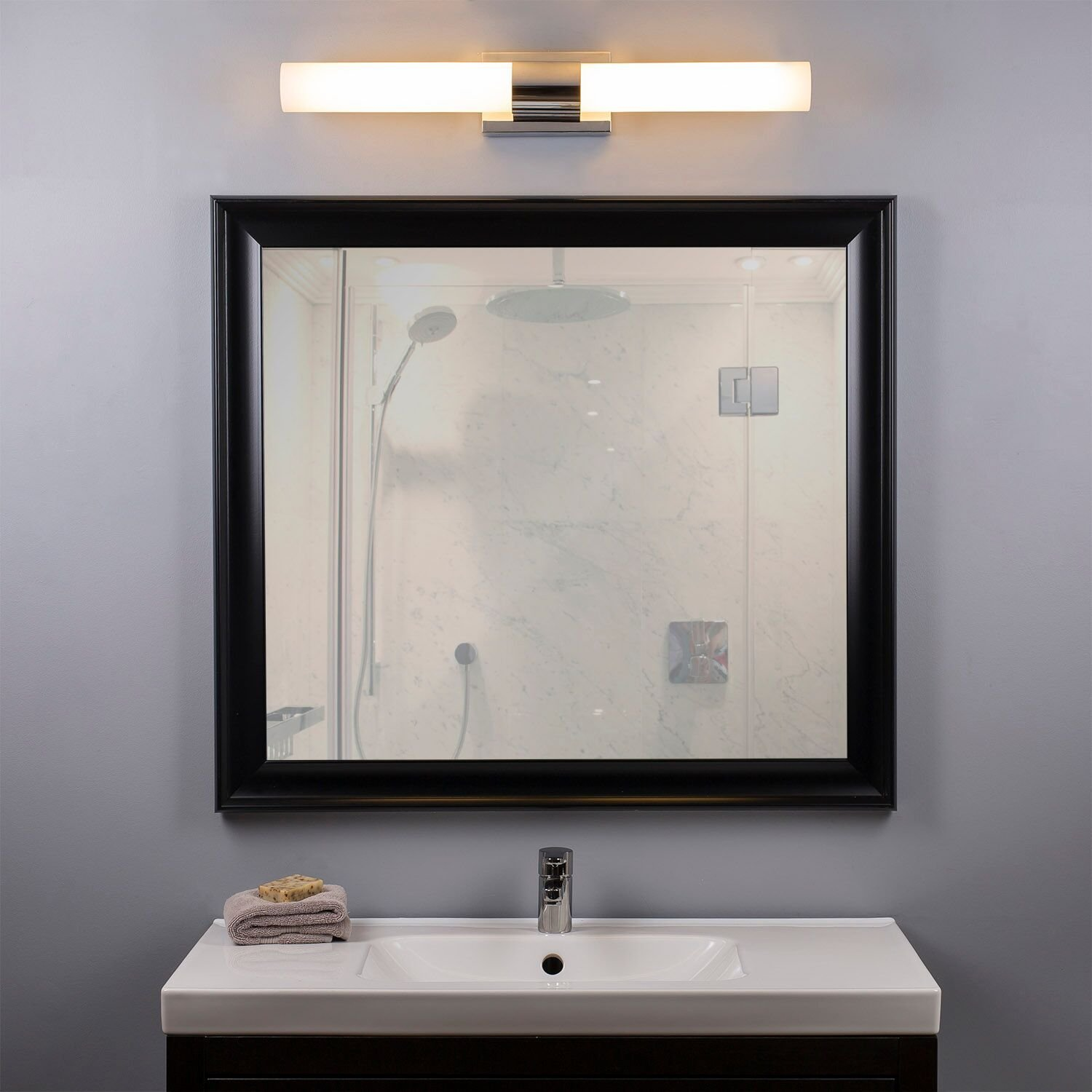 Tbest 14W Modern Style Home Bathroom Front Mirror LED ...