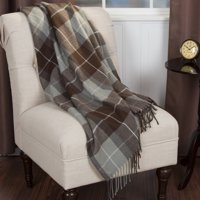 Somerset Home Cashmere-Like Blanket Throw - Brown