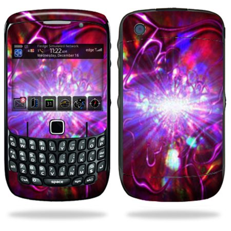 Mightyskins Protective Skin Decal Cover for Blackberry Curve 8500, 8520, 8530 Cell Phone wrap sticker skins Crimson Trip