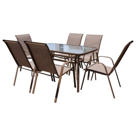 7-Pc High Back Sling Patio Dining Set ()