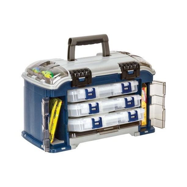 Plano Synergy Fishing Angled Tackle Storage System 3600, Medium, Blue / Grey