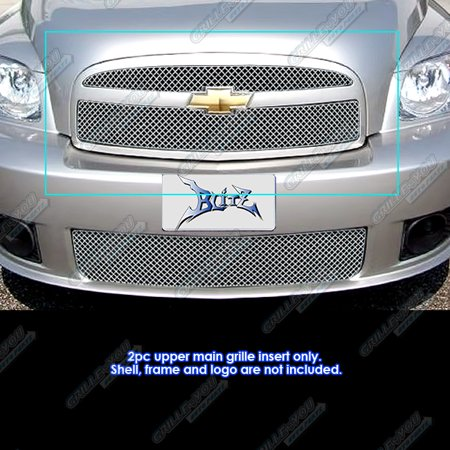 Compatible with 2006-2010 Chevy HHR SS Stainless Steel X Mesh Grille Insert CX6941S Aps Ss Wire Mesh
