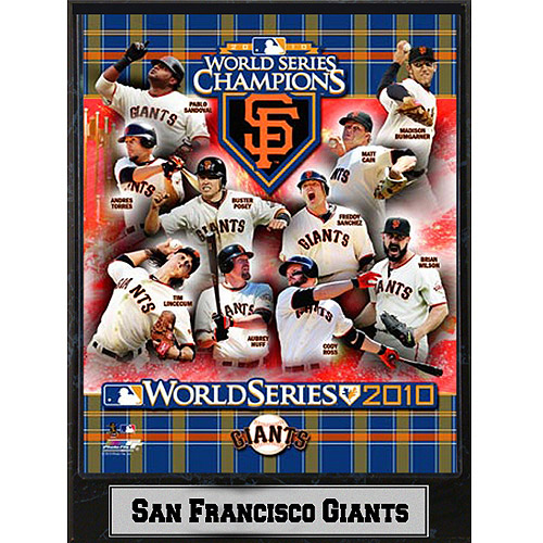 MLB San Fransisco Giants Champions Photo Plaque, 9x12