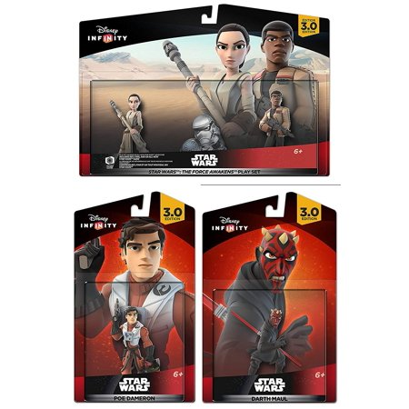 Disney Infinity 3.0 Star Wars The Force Awakens Finn Rey Darth Maul Poe