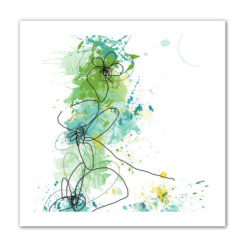 ArtWall Green Botanica' by Jan Weiss Painting Print on Rolled Canvas