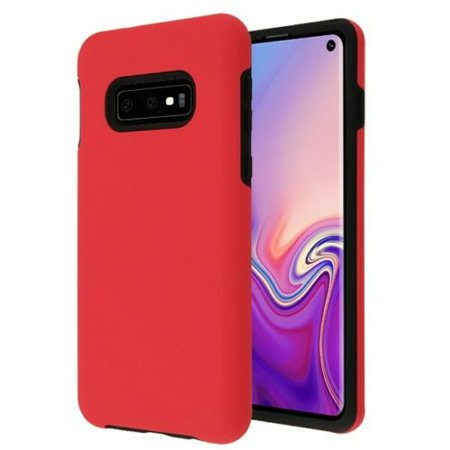 Wydan Case For Samsung Galaxy S10 - Shockproof Slim Protective Heavy Duty Phone Cover - Red on Black