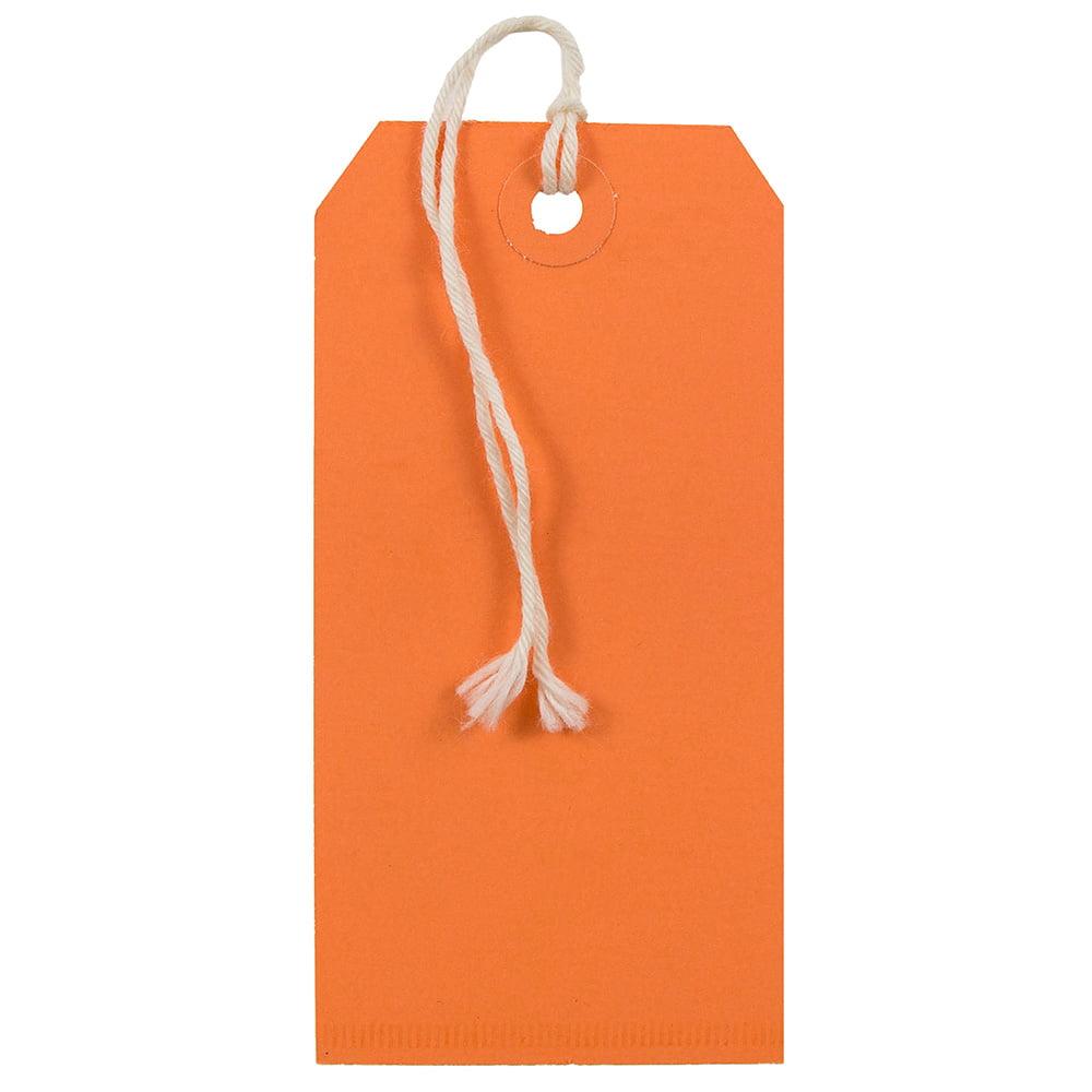 JAM Gift Tags with String - Medium - 4 3/4 x 2 3//8 - Ora...