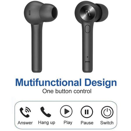 Bluetooth 5.0 Wireless Earbuds, TWS Wireless Earbud Headphones in-Ear Earphones with Charge Case, Mini Car Headset Built-in Mic for Cell Phone/Running/Android - image 1 of 7