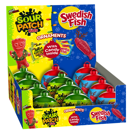 Sour patch kids swedish fish mixed ornament tray 12ct for Sour swedish fish