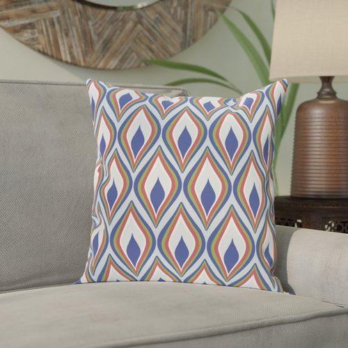 Bungalow Rose Shivani Geometric Print Outdoor Pillow