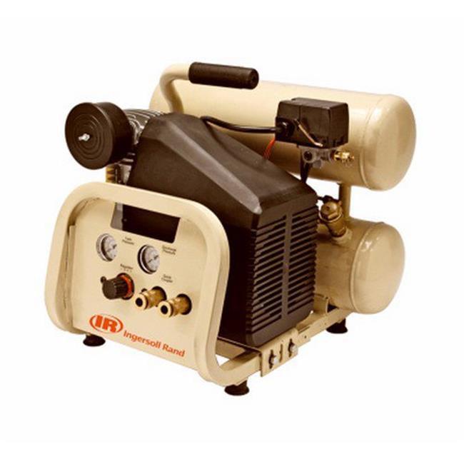 Ingersoll Rand P1IU-A9 Portable Electric Air Compressor, Twin-Stack, 4-Gal., 2-HP