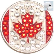 Bella Crystal Golf Ball Marker & Hat Clip - Countries Collection - Canada