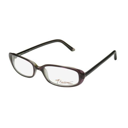 New Thalia Ruby Womens/Ladies Designer Full-Rim Mauve Classic Shape Simple & Elegant Frame Demo Lenses 51-17-140 Eyeglasses/Eyeglass Frame - Frame Mauve Lenses