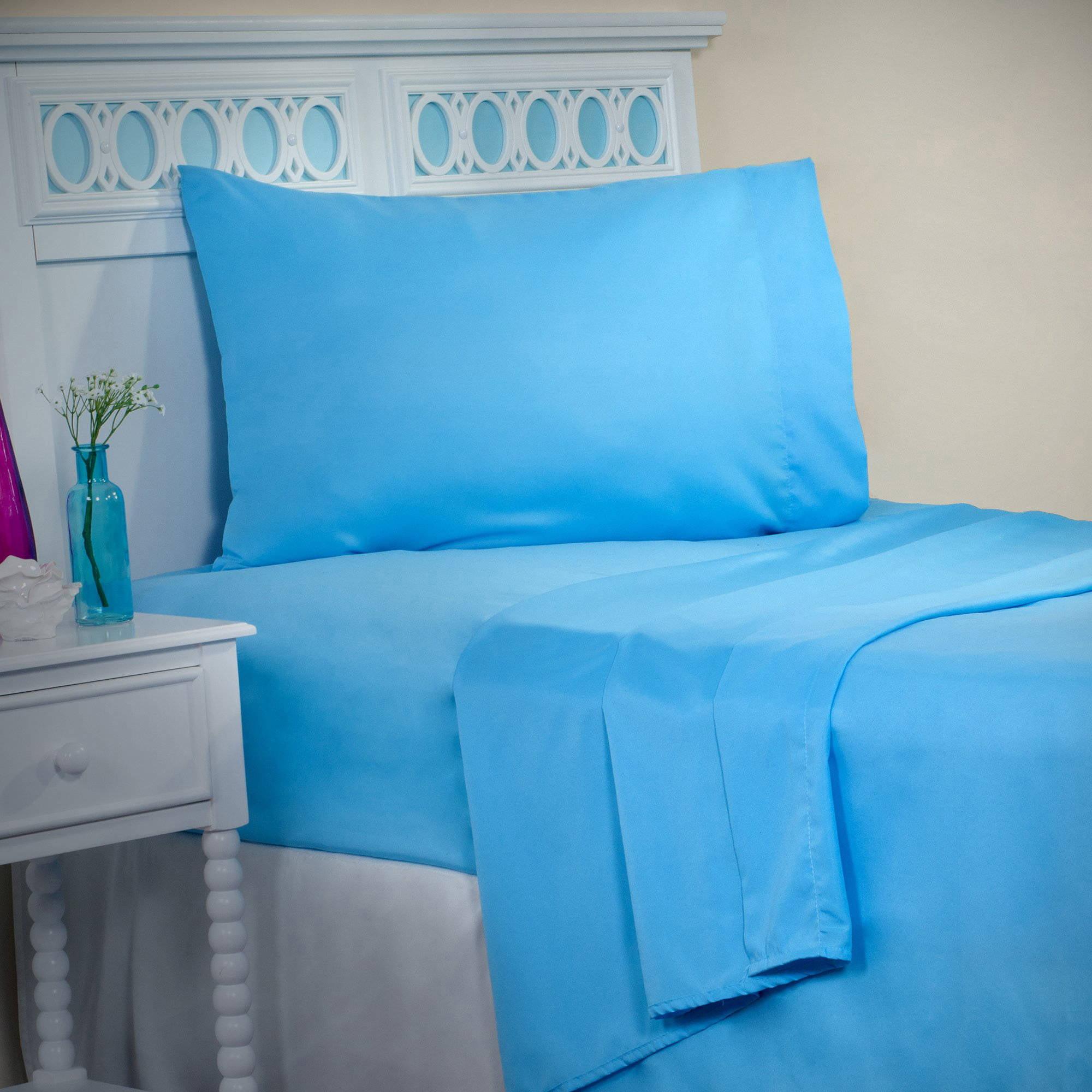 Somerset Home Series 1200 3-Piece Twin SHeet Set, Blue by Trademark Global LLC