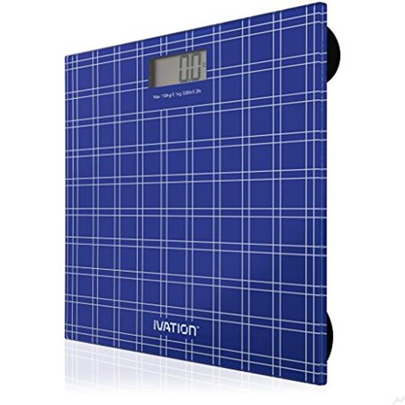 """Digital Bathroom/Body Weight Scale""""Step-On"""" Technology w/Extra Large LCD Display High Accuracy, Ultra-Thin Tempered Glass, 330-Pound Load Capacity, Blue - image 4 de 6"""