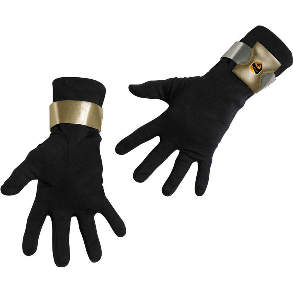 Childs GI Joe Snake Eyes Black Ninja Costume Gloves