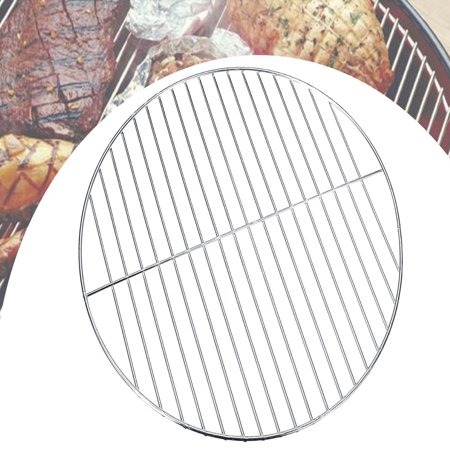 10'' Replacement Stainless Steel Cooking Grate Round Barbecue Wire Mesh BBQ Grill Mat Charcoal Grill Cooking Grid Grate Stainless Lid Grates