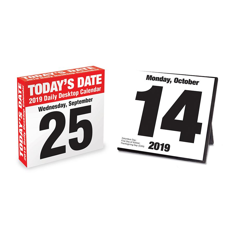 """2019 Today's Date 5.5"""" x 5.5"""" January 2019-December 2019 Daily Desktop Calendar by TF Publishing"""