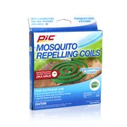 PIC Mosquito Repelling Coils, 4 Count Box, Mosquito Repellent for Outdoor Spaces
