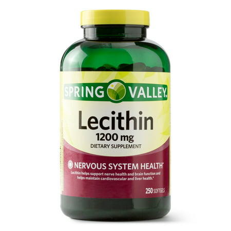 Spring Valley Lecithin Softgels, 1200 mg, 250 Ct