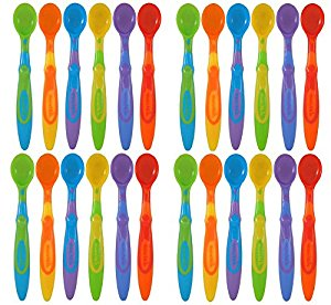 Munchkin Soft-Tip Infant Spoon, Assorted Colors 24 Count by Munchkin