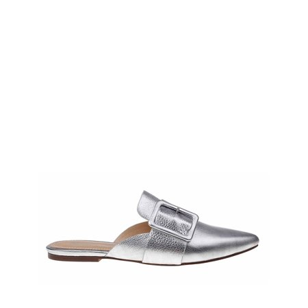 Sincerity Metallic Leather Mules Metallic Bridal Shoes