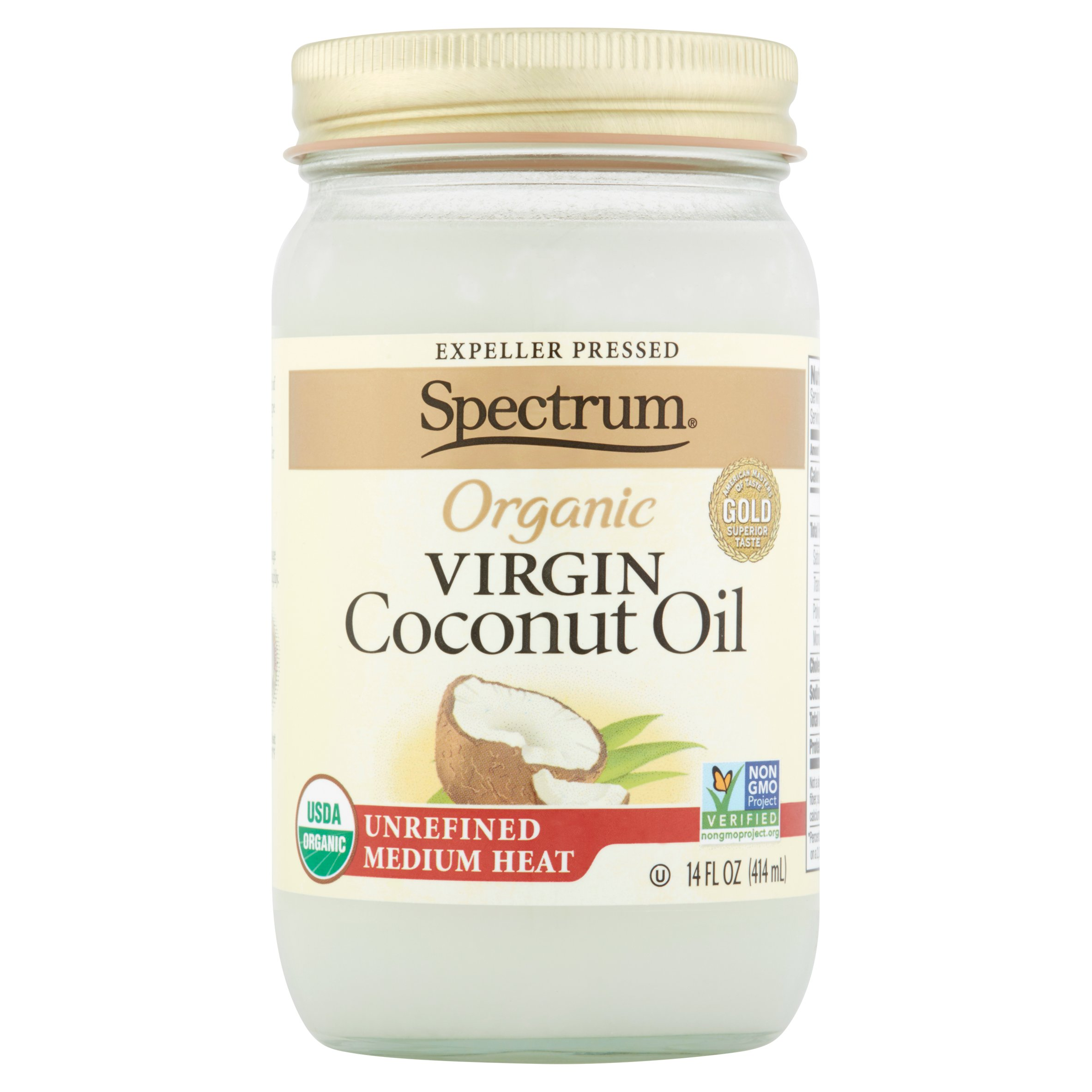 Spectrum Organic Virgin Coconut Oil, 6 pack, 14 fl oz