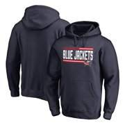 Columbus Blue Jackets Fanatics Branded Iconic Collection On Side Stripe Pullover Hoodie - Navy