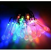 AGPtek 20 LED Waterproof String Light Solar Powered for Outdoor Garden Patio Home 15.75 Feet Multicolor