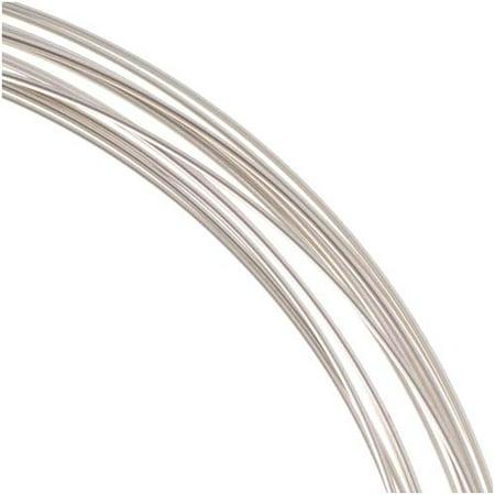 Beadsmith Non-Tarnish Silver Plated Copper Half Round Craft Bead Wire 18Ga (12Ft) 15mm Round Wire