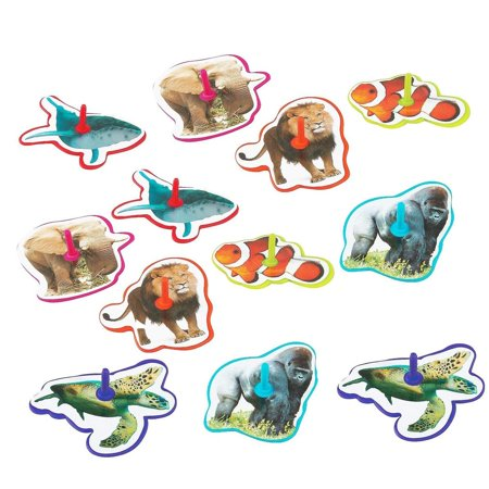 Fun Halloween Food For Kids Party (Animal Spinning Tops - Pack Of 12 - 2.5 Inches Assorted Animals And Colors - For Kids Boys And Girls, Great Party Favors, Bag Stuffers, Fun, Toy, Gift, Prize, Piñata)