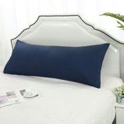 "Body Pillow Cover Full 1800 Series Microfiber Long Pillowcases Navy 20""x48"""