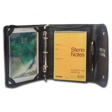 d1469cee8aad iCarryAlls iPad Portfolio with 3-Ring Binder, Ring Binder Padfolio Leather  Organizer Portfolio, for 10.5 inch iPad Pro