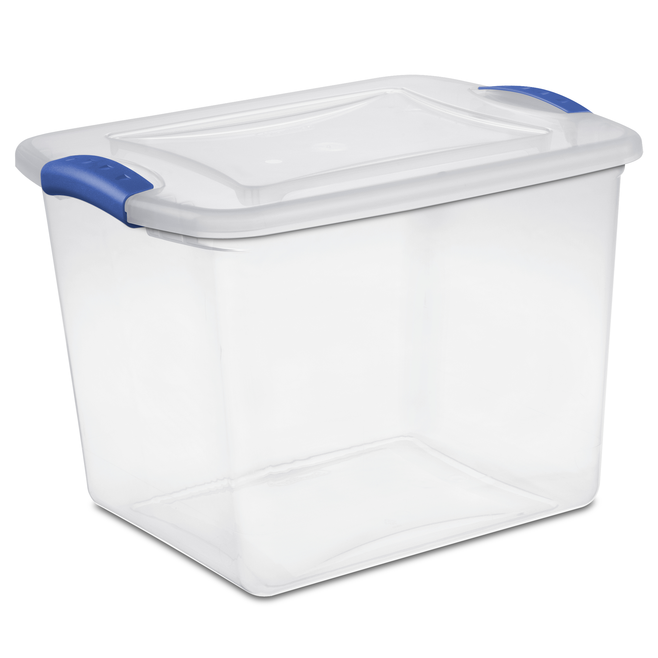 Sterilite 27 Quart Stadium Blue Latch Box, 2 Piece