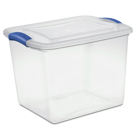 Sterilite 27 Qt./26 L Latch Box, Stadium Blue